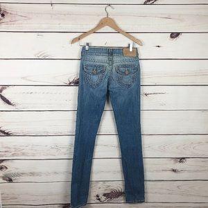True Religion Light Wash Skinny Jeans Size 26 X 34